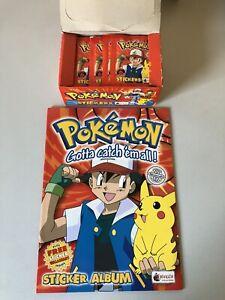 Merlin Pokemon Sticker 1999 Topps 100 Stück Plus Stickeralbum