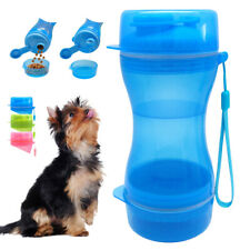 Pet Travel Portable Water Bottle with Food Container for Dogs Walking 2 in 1