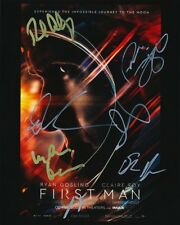 First Man movie REAL SIGNED cast photo x7 Chazelle Foy Fugit Rick Armstrong COA