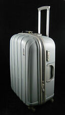 "Grey Hard Shell Polypropylene Suitcases Luggage X Set of 3 - 30"" + 26"" + 22"""