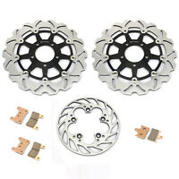 Front Rear Brake Discs Rotors Pads For Suzuki GSXR600 GSXR750 04 05 GSXR1000 04