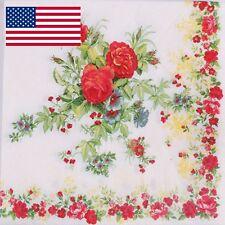 40pcs Rose Flower PAPER NAPKINS Wedding Birthday Party Tableware serviette PN57