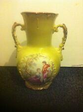 Large Vintage 1950s Gold Gilded Double Handled Oldcourt Ware English Vase