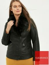 Evans Pu Jacket With Faux Fur Collar Size 24 Brand New.