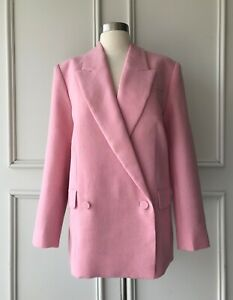   COUNTRY ROAD   wool double breasted blazer powder pink   NEW   $349   SIZE: 14
