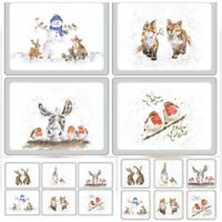 Wrendale Designs - Animal / Farm Christmas Placemats or Coaster Range