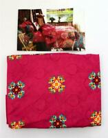 Bettwäsche Set 135 x 200 80 x 80 cm Rot Blumen Mikrofaser