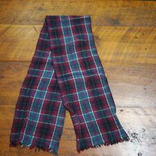 Vintage Woolrich 100% Wool Scottish Tartan Plaid Warm Winter Scarf Fringe