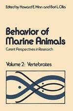 Behavior of Marine Animals: Current Perspectives in Reseach-ExLibrary