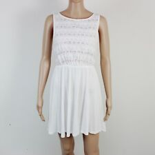 TopShop Womens Size 8 White Cotton Summer Dress