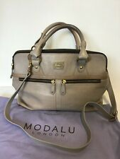 MODALU LONDON SHARK GREY LEATHER PIPPA TOTE BAG COST £249