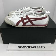 Asics Onitsuka Tiger Mexico 66 Retro Shoes White Red Sz 7 Mens D4J2L-0125 NEW