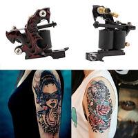 NEW Custom Tattoo Machine Gun Dual 10-Wrap Coils Supply for Liner & Shader