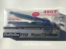 Babyliss Pro Nano Titanium Blue Flat Iron 1.25 Inch Full Size