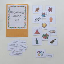 Teacher Made Phonics Center Game Beginning Sounds Match /v/