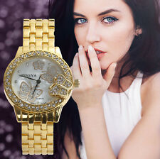 Geneva Woman Luaxury Diamond Steel Band Analog Watch Quartz Dress Wrist Watches