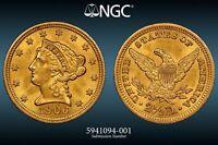 1906 $2.50 Liberty Head Quarter Eagle-Gold  MS 64 Grade by NGC!💥