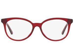 Coach HC 6138U 5557 Transparent Burgundy Round Red 52-16-140 Eyeglasses Frame RX