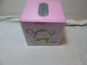 Tiddliwinks GIRL SAFARI Tissue Box Cover ~ Monkey and Dots ~ Pink, Green, Purple