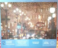 WH Smith Christmas Lights Regent Street 1000 Piece Jigsaw Puzzle Complete London