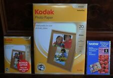 """Kodak Photo Paper"" Two (2) Of . ""Brother Photo Paper"" One (1) Of , Brand New !"