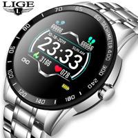 LIGE 2020 Full circle touch screen Mens Smart Watches Authentic Fitness Watch