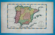 1778 NICE ORIGINAL MAP SPAIN PORTUGAL CATALUNYA VALENCIA ASTURIA ANDALUSIA IBIZA