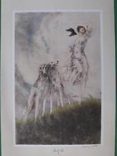 "Louis Icart Art Print ""JOY OF LIFE"" Art Deco Borzois Russian Wolfhounds 1974 WOW"