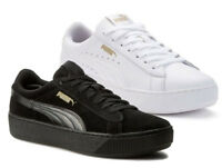 PUMA VIKKY PLATFORM scarpe donna sneakers nero bianco pelle camoscio run fit