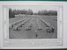 1915 WWI WW1 PRINT ~ CARS OF THE SPECIAL MOTOR-TRANSPORT CORPS SOUTH AFRICA AKIN
