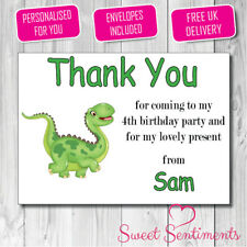 Personalised Crayon Style Kids Thank You Card / Notes - 12 With Envelopes S2