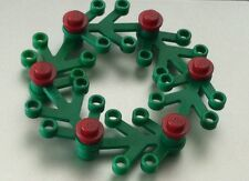 *NEW* Lego GREEN Christmas Holiday WREATH with DARK RED LIGHTS