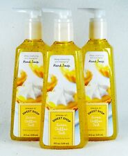 3 Bath Body Works LEMON CHIFFON TART Anti-bac Deep Cleansing Hand Soap