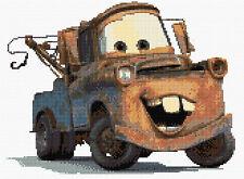 """Mater-Disney Cars puntada cruzada contada Kit de 12"""" X 9"""" caracteres de coche películas"""