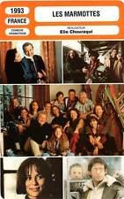 FICHE CINEMA : LES MARMOTTES - Anglade,Bisset,Boisson,Lanvin,Aimée,Ledoyen 1993