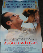 Jack Nicholson Helen Hunt AS GOOD AS IT GETS Movie promo poster - Oscar winner