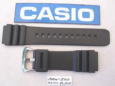 Genuine Casio AMW320 AMW320C AMW320CX AMW320D DW3000C black resin watch band