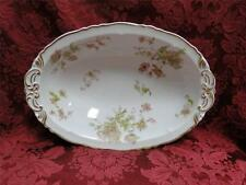 Haviland France Pink White Gold Poppy: Oval Vegetable Serving Bowl