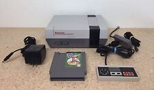 Works!!** Nintendo Nes Console With New 72 - Pin Connectors Installed. Lot #F6
