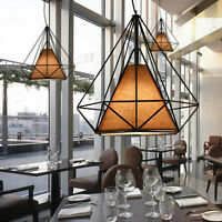 Modern Metal Iron Geometric Cage Ceiling Pendant Light Lightshades Lamp Shades