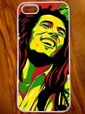IPhone 5/5s Coque/Housse, Bob Marley, One Amour, Cool Reggae Raster Désign