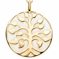 JOBO Anhänger Baum 925 Sterling Silber gold vergoldet 1 Achat-Imitation