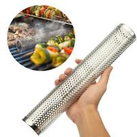 Square Round BBQ Grill Cold Smoking Mesh Tube Generator Stainless Pellet Smoker