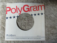 sleeve only POLYGRAM WHITE RED LETTERS  45 record company sleeve only    45