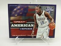 Kevin Durant 240/299 Totally Certified 2014 Great American Heroes #2 OKC Thunder