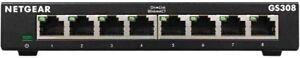 NETGEAR GS308 8-Port 1000Mbps Gigabit Ethernet Network Switch Internet Splitter