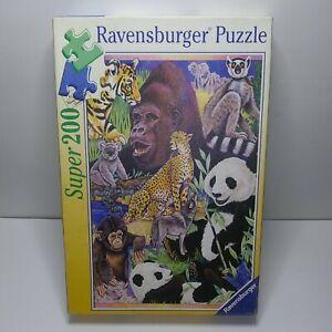 "2000 Ravensburger SUPER 200 ""Animal Wildlife"" 200 Piece Jigsaw Puzzle # 126958"