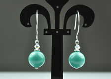 Jade Crystal Pearl Earrings Sterling Silver Filled Made w Swarovski Elements