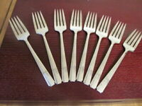 Oneida GRENOBLE Set of 8 Salad Forks Prestige Silverplate Flatware Lot C