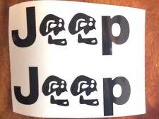 2x Jeep with Skull Side Sticker TJ CJ YJ XJ JK Decal Wrangler 4x4